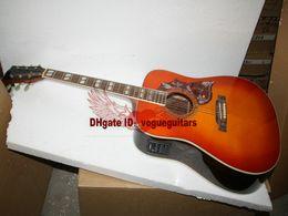 Neue Ankunft Lemon Burst Akustische Elektrische Gitarre Hohe Qualität Billig von Fabrikanten