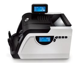 Máquinas de contar online-Alta calidad Moneda Efectivo Contador de billetes de dinero Contador LCD Macina Contadora de dinero Máquina Equipo financiero blanco