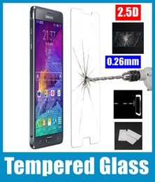 Wholesale Galaxy S4 Clear - 0.26mm front Clear Tempered Glass film Screen Protector For Samsung Galaxy S6 edge S3 S4 S5 E5 E7 Z1 A5 A7 SSC026