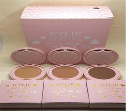 Wholesale Free Freight - Hot Kylie Jenner 3colour Pressed Powder Face Powder Cosmetics Mild Restoring Powdery Cake 12pcs Free freight