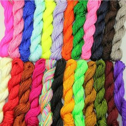 Wholesale Wholesale Chinese Knotting Cord - 0.5mm 20 colors Jewelry Findings Nylon Chinese Knot Beading Thread Macrame shamballa Bracelet Braided knitted line Cord 250m lot