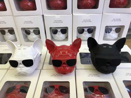 2019 haut-parleurs bluetooth rouges Haut-parleurs extérieurs sans fil Bluetooth avec carte FM TF Bulldog Touch Control Haut-parleur noir rouge blanc pour téléphone intelligent haut-parleurs bluetooth rouges pas cher