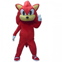 Wholesale Sonic Hedgehog Costume Adults - Factory Outlets Hot Sale The popular RED SONIC HEDGEHOG Halloween Fancy Dress Cartoon Adult Animal Mascot Costume free shipping