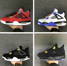 Wholesale Money Deep - 2017 retro 4 Basketball Shoes men retro 4s Pure Money Royalty White Cement Premium Black Bred Fire Red Sports Sneakers size 40-47