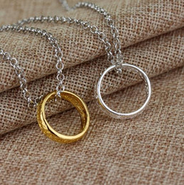 Wholesale Wholesale Gift Merchandise - Wholesale film merchandise Lord of The Rings Jewelry Elvish Rune Hobbit The One Ring Pendant chain Necklace