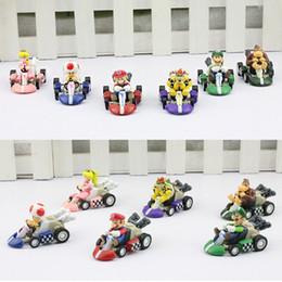 Wholesale Mario Kart 6pcs - Super Mario Bros Kart PULL BACK Car Figures Children's Gift Sets 6pcs set Free shipping