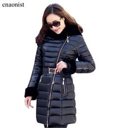 Wholesale Worsted Coat Hoods - Women Winter Parkas Coats 2015 New Winter Long Thicker Korean Slim Plus Size High Imitation Rex Fur Collar Hoods Parkas Jackets Coats