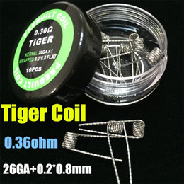 Wholesale Hot Vape Twist - New Hot Flat twisted wire Fused clapton coils Hive premade wrap wires Alien Mix twisted Quad Tiger coils Heating Resistance wire Vape RDA
