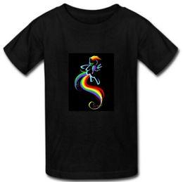 Wholesale Dash Clothing - Rainbow Dash Cartoon Print Summer Fashion Casual Short Sleeve T Shirts For Men Custom Man T Shirts Tees Clothing