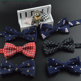 Wholesale Grooms Ties - Cheap Children Bow Tie Color Butterfly Wedding Party Bow tie Groom Ties Bow Ties Men Vintage Wedding party pre-tie Bow tie For Kids