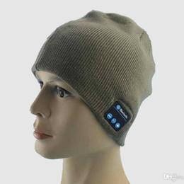 Wholesale Smart Casual Men Winter - Men Women Bluetooth Hat Wireless Beanie Smart Hat Headphone Headset Speaker Mic Headgear Knitted Cap DHL Shipping