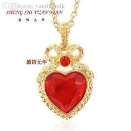 Wholesale Europe Style Big Necklace - Wholesale-fashion necklaces for women 2015 hot selling style Europe and the United States high jewelry HM hearts big red gems