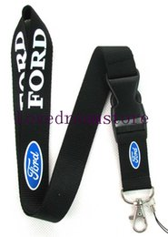 Wholesale Ford Fobs - Hot 10 pcs Ford Lanyard Keychain Quick Release FOB Mustang Fiesta- Black