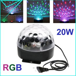 Wholesale Reliable Products - Wholesale-110V 220V Voice-activated LED RGB Crystal Magic Ball Effect Light Disco DJ Stage Lighting reliable Product