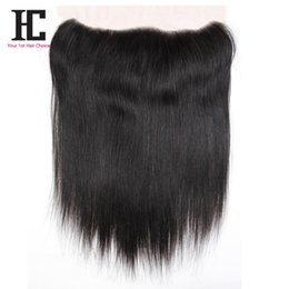 "Wholesale Virgin Frontals - 7A Peruvian Virgin Hair Straight Lace Frontals Closure 1 Bundle Soft Peruvian Straight Virgin Hair 13""x4"" Lace Frontal Closure"