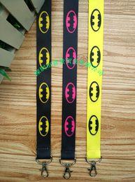 Wholesale Cartoon Neck Straps - New 10pcs cartoon batman Phone key chain Neck Strap Keys Camera ID Card Lanyard Free Shipping