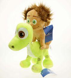 "Wholesale Ma Year - Free Shipping 2PCS The Good Dinosaur Arlo & Spot Soft Stuffed Animals & Plush Doll Toy X-mas Gift 8"""