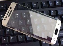 Empaque protector de lcd online-Pantalla completa 3D curvo pantalla 9H vidrio templado protector de pantalla LCD película protectora para samsung galaxy s6 s7 edge edge + plus G9250 ningún paquete