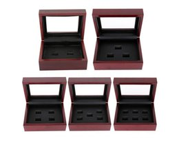 Wholesale Ring Display Boxes Cases - Wooden Box Championship Ring Display Case Wooden Boxs Ring 2 3 4 5 6 Holes To Choose Rings Boxe