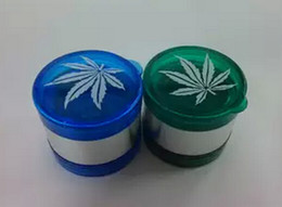 Wholesale Leaf Grinder - New Arrive Leaf Pattern Plastic Herbal Herb Tobacco Grinder Smoke Crusher Hand 5 layer