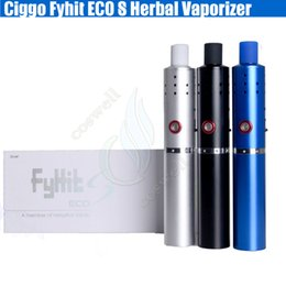 Wholesale Eco Pen - 100%Original Ciggo Fyhit ECO S Herbal Vaporizer Starter Kit Upgraded Herbstick 2200mah Dry Herb Vape Pen Ceramic Heating Chamer Coils vapors