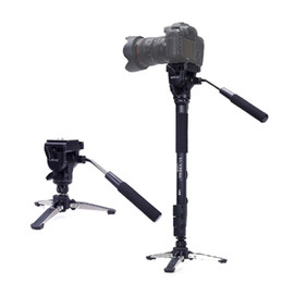 Wholesale Head For Camera - YUNTENG 288 three Feet Support Monopod with Fluid Pan Head VCT-288 for DSLR Camera DV Camcorder