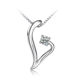 Wholesale Dream Pendant - Sterling silver necklace simple and stylish Love Dream Pendant S925 Silver Necklace Korean women jewelry items Valentine's Day to send his g
