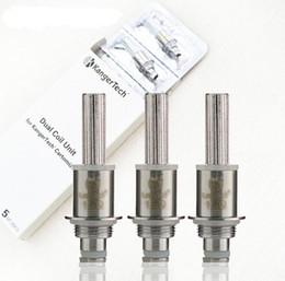 Wholesale Ecig Mega - Kanger Dual Coil for Aerotank Mega Mini protank 3 Aerotank Mini EVOD 2 T3D Clearomizers coils vape ecig