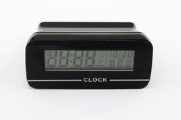 Wholesale Camera Shape Usb - Alarm Clock Shape Hidden Camera Mini Dvr Watch Mini DV Recorder WIFI Camera Clock with 4G 8G 16G Card and USB Cable 10pcs lot by DHL