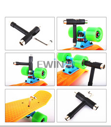 Wholesale Board Assembly - Roller Skate Skateboard Scooter Longboard 5-Way T Skate Board ATB Tool+Allen Key New and Hot Selling 2sets