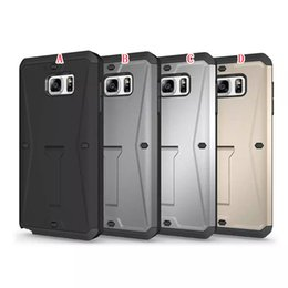 Wholesale Galaxy Note Ballistic Cases - Hybrid Kickstand Stand Plastic PC Hard TPU soft Rugged armor Case For Samsung Galaxy Note5 Note 5 Ballistic Shockproof Touch Screen cover