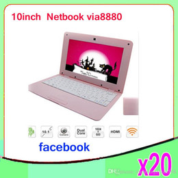 Wholesale Mini Notebook Cheap - Cheap 10inch Mini Laptop Notebook Computer webacm 512 4GB OR 1G 8Gia V8880 Android netbook laptops 20pcs ZY-BJ-3