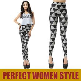 "Wholesale Cheap Plus Leggings - NEW FASHION STREET DK094 ""Black milk style"" Simple Black Triangle Pencil Pants Cheap Sexy Leggings Cheap Plus Size Free Shipping"
