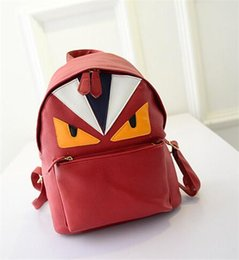 Wholesale Student Bags Woman - 2015 New Korean Students Designer Backpack Creative Personality PU Fashion Owl Backpack Shoulder Bag Wholesale Free shipping