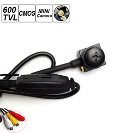 Wholesale Cctv Small Camera - HOT Home CCTV Mini 600TVL 3.6MM CMOS Secuirty Video Camera Smallest Button Camcorders free shipping