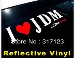 Wholesale Headlights Custom - (100 pieces  lot) Wholesale I Love JDM Vinyl Decal Sticker custom made stickers
