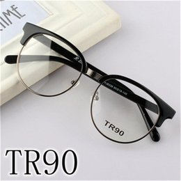 Wholesale Metal Memory Frame - Soft Memory TR90 Optical Full Frame Glasses Flexible Myopia Glasses Men Women Optical Eyeglass Frame Eyewear Free Shipping
