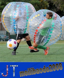 Wholesale Play Entertainment - NEW Inflatable bumper ball to play soccer body Zorb Inflatable bumper ball hit both sports entertainment pool toys 1m 1.2 m 1.5 m MYY15056