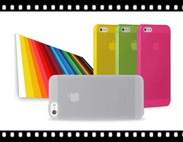 Wholesale Frost Plastic Skin - 0.3mm Slim Frosted Transparent Clear Soft PP Cover Case Skin for iPhone 5 5S 5C 6 6G