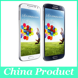 Wholesale S4 Galaxy Quad Core - Original Galaxy S4 GT-i9500 13MP Camera refurbished Samsung i9500 5.0 inch NFC 3G Quad Core Android 4.2 16GB Storage unlocked phones 002864