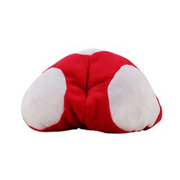 Wholesale Super Mario Plush Hat - 2styles Super Mario Bros Red Toad Plush Warm Hat Mario Plush Anime Cosplay Plush Cap wholesale