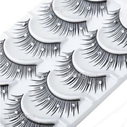 Wholesale Diamond Eye Lashes - Wholesale-Makeup False Eye Lashes 5 Pairs Eyelash Diamond Crystal Long Handmade Cosmetics