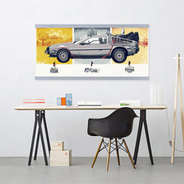 Wholesale Paint Pops - Back To The Future Car Vintage Movie Poster A4 Pop Film Wall Art Picture Modern Home Decor Canvas Painting No Frame Boy Kid Gift