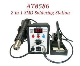 Wholesale Atten Rework - Hot sale, 220V ATTEN AT8586 2in1 Hot Air SMD Rework Soldering Station Desoldering Station, free shipping.