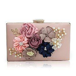 Wholesale Fabric Pillow Panels - Milisente Women Flower Clutches Evening Bags Handbags Wedding Clutch Purse
