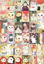 Wholesale Postcard Books - New 36Pcs 1 Set 14.2*9.4cm Vintage Korean Style Jetoy Cat Postcards Gift Greeting Cards Collection Post Card A5