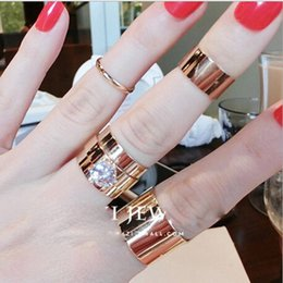 Wholesale Cheap Gold Ring For Women - cheap 5pcs Set Stacking Punk Rings Finger Rings jewelry Gift for women girl Party Casamen to Diamond Jewelry Artilady New Design J039