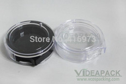 Wholesale Empty Powder Containers - 500 PCS LOT rotable empty 2g eyeshadow case box DIY lip balm jar,beautiful and popular powder container