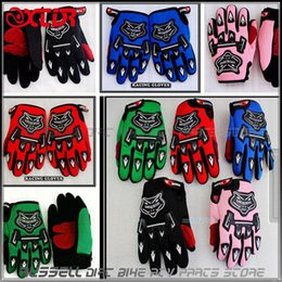 Wholesale Motorbike Glove S - Free Shipping Racing gloves for YOUTH PEEWEE kids motorcycle Bicycle Dirt Pit Bike Poceket bike Motorbike ATV QUAD