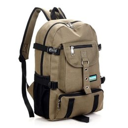 Wholesale school bags wheel - New Fashion arcuate shouider strap zipper solid casual bag male backpack school bag canvas backpacks for men